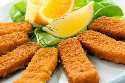 fish sticks et citron