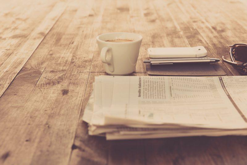café et journal